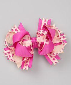 Love this Picki Nicki Hair Bowtique Sweet Pink Hearts Bow Tie Clip by Picki Nicki Hair Bowtique on #zulily! #zulilyfinds