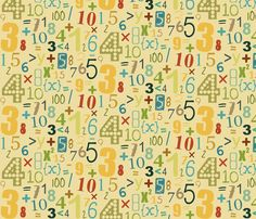 sandy maths fabric by scrummy on Spoonflower - custom fabric