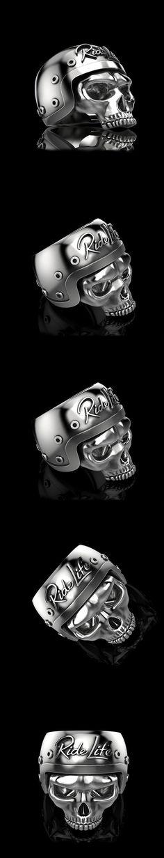 American Flag Mask Gangs Skull Men Silver Stainless Steel Biker Rings Size 8-14