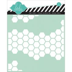 Heidi Swapp Honeycomb Stencil, 6 by Honeycomb pattern. 1 piece per package. Wholesale Craft Supplies, Craft Supplies Online, Arts And Crafts Supplies, Art Supplies, Scrapbook Quotes, Scrapbook Stickers, Scrapbook Paper, Honeycomb Paper, Gelli Plate Printing