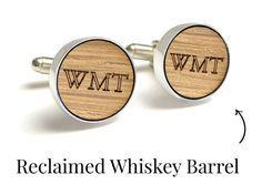 Whiskey Barrel Cufflinks / 5 Year by PaperAnniversaryLove on Etsy