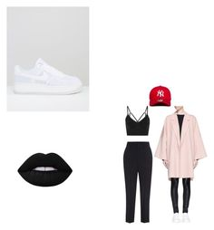 """Da Girl"" by aayeshaofficial on Polyvore featuring Helmut Lang, Étoile Isabel Marant, NIKE, New Era and Lime Crime"