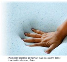 hand in cool gel memory foam