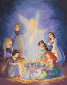 .The first 6 princess - Snow White and the Seven Dwarfs 1937 the original Disney princess ~~~ Cinderella 1950 ~~~ Aurora - Sleeping Beauty 1959 ~~~ Ariel - The Little Mermaid 1989 ~~~ Belle - Beauty and the Beast 1991 ~~~ Jasmine - Aladdin 1992