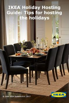 I love these black dinning chairs and table from Ikea Dining Room Furniture, Dining Room Table, Dining Area, Dinning Chairs, Ikea Inspiration, Coastal Living Rooms, Interior Design Living Room, Interior Design Tips, House Rooms