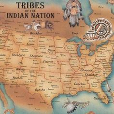 This is a map of American native tribe nations. This map also includes pictures of Indian tribes. Native American Map, American Indians, American Art, American Symbols, American Code, Early American, Indian Tribes, Blackfoot Indian, Indian Symbols