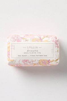 Breathe: a light floral blend of peony, white lily, lavender and violet by Lollia Soap