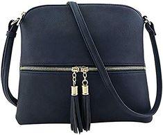 fcafc2c3b559 SuperSU Frauen Klassische Leder Quaste Umhängetasche Pure Color  Schultertasche Messenger Bag Umhängetasche Tasche Kuriertasche Vintage  Rucksack