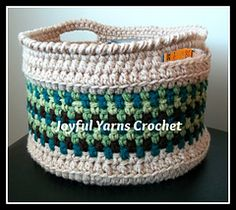 Magnificent Moss Basket by Joyful Yarns Crochet Free