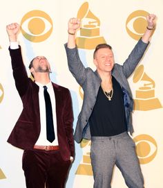 "Macklemore & Ryan Lewis backstage at ""The GRAMMY Nominations Concert Live!! — Countdown To Music's Biggest Night"" on Dec. 6 in Los Angeles"