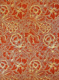 This art nouveau wallpaper is so beautiful and it would look fabulous offsetting ivory walls.
