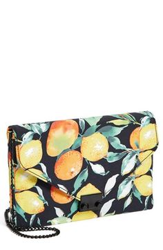 $295, Lock Clutch Black Citrus by Loeffler Randall. Sold by Nordstrom. Click for more info: http://lookastic.com/women/shop_items/52370/redirect