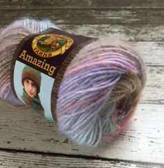 NEW Lion Brand Amazing Yarn Pink Sands Wool Blend  This premium Lion Brand Amazing Pink Sands yarn is for any crochet project or knitting