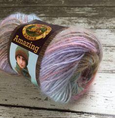 Lion Brand Amazing Yarn Brown Pink Sands 207 Wool Blend 50g Italy Multicolor Knitting Crochet Supplies Destash New