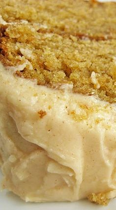 Caramel Apple Cake with Apple Cider Frosting ~ Rich and yummy!