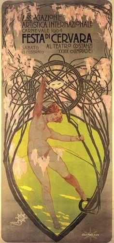 Arte Liberty in Italia - Manifesti - Giovanni Maria Mataloni