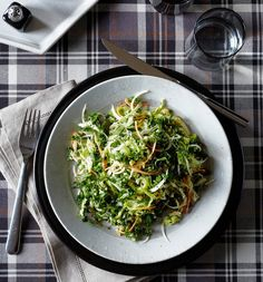 Kale, Cabbage and Carrot Salad by Michael Anthony, wsj: Antioxidants, fiber, calcium, and iron. Kale combined with fresh cabbage, carrot and onion, tossed in a bold, creamy dressing, it adds up to an appealing and genuinely satisfying winter salad. Even better after a few days in the fridge so the dressing penetrates deep into the veggies and softens their bite!  #Salad #Healthy #Kale #Carrot #Cabbage