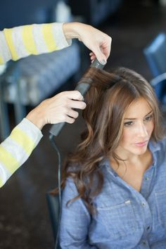 How to curl your hair with a flat iron.