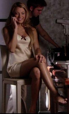 Serena in Nanette Lepore Cleopatra slip dress