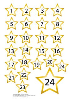 FREE printable number for your DIY star  advent calendar
