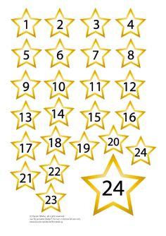 Adventskalenden Zahlen zum Ausdrucken / Printable numbers for your Advent calendar