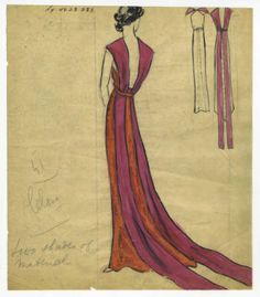 Bergdorf Goodman sketches: Lelong 1931-1948. Bergdorf Goodman sketches, 1929-1952. The Metropolitan Museum of Art, New York. The Costume Institute (b17508952) #fashion