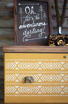 A filing cabinet gets an amazing makeover with Arles Chalk Paint® decorative paint by Annie Sloan | By Brepurposed