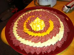 meat tray   Meat and cheese tray food art !!