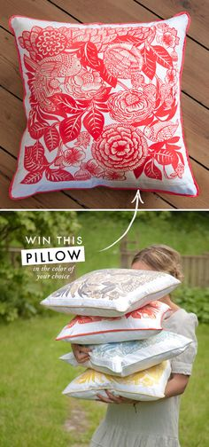 Win this pillow!