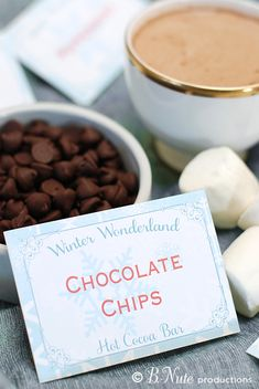 Free hot cocoa bar printables