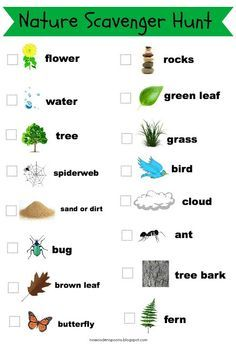 nature walk scavenger hunt list with pictures | Photo Scavenger Hunt for Kids {Free Printables}