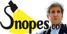 12/10/2016 JOHN KERRY:  CAUGHT: Snopes deliberately omits key details to protect Kerry's State Dept, In other words, Emery's critique was based on a straw man of his own creation.