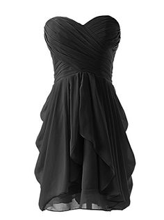 MissProm Women's Sweetheart Chiffon Short A-line Bridesmaid Dress Wedding Party Dress Prom Dresses (US 18W, Black) MissProm http://www.amazon.com/dp/B00R3WTXGU/ref=cm_sw_r_pi_dp_nQz7ub12B2HF3