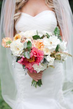 garden bouquet of ruffly goodness! | The Nichols #wedding