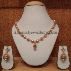Jewellery Designs: CZ Balls Set with Jhumkas