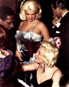 Marilyn Monroe and Jayne Mansfield at the 1955 premiere of The Rose Tattoo. Marilyn made even the prettiest of woman pale in comparison to her.