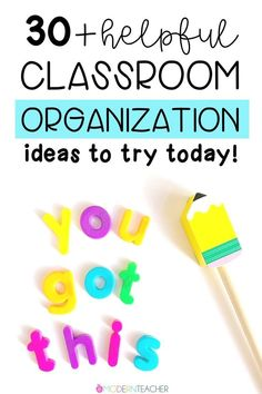 Want to feel more organized and prepared in the classroom? These 30+ practical and teacher-tested tips will help you get started! #organization #classroom #classroommanagement Organization And Management, Classroom Organization, Classroom Management, Classroom Ideas, Organizing, Teacher Binder, Teacher Planner, Future Classroom, Teaching Ideas