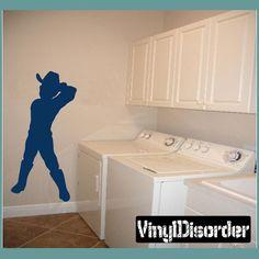 Cowboy Kid Wall Decal - Vinyl Decal - Car Decal - NS015
