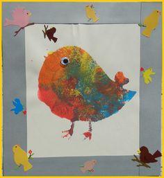 POCHOIR OISEAU - les oiseaux maternelle