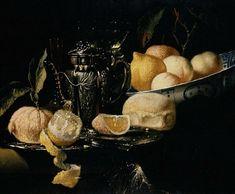 Juriaen van Streek Still Life with Fruit 17th century. CERAMICS : the porcelain Kraakware, late Ming c.1600-1640.