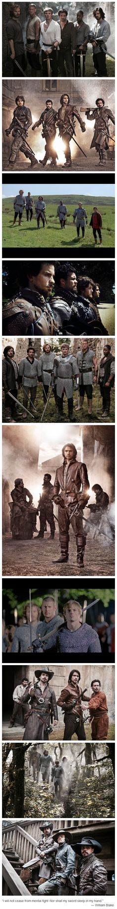 """The Musketeers & Merlin - Of Knights and Musketeers: """"I will not cease from mental fight. Nor shall my sword sleep in my hand."""" - William Blake"""