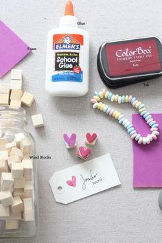 diy: mini foam heart stamps