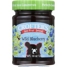 Crofters Fruit Spread - Organic - Just Fruit - Wild Blueberry - 10 Oz - Case Of 6