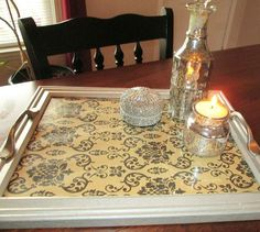 s 25 awesome things you didn t know you could do with old picture frames, crafts, repurposing upcycling, Turn one into a decorative serving tray