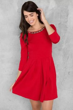 4cdd9cf343c Korina Embellished Textured Dress