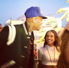 Chris Brown and Karreuche Tran spend a little QT at the 2013 O.C. Fair