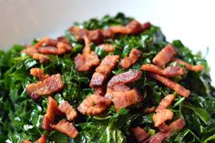 Quick and Simple Stir-Fried Kale and Bacon by Michelle Tam http://nomnompaleo.com