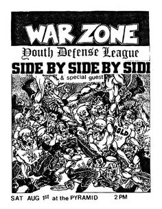 Warzone, Side by Side, YDL punk hardcore flyer Concert Flyer, Concert Posters, Recital, Hardcore Music, Punk Poster, Music X, Nyc Subway, Punk Art, Special Guest