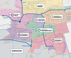 Regio overzicht van de Sociale Wijkteams in Leeuwarden