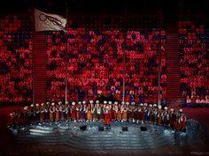 Sochi 2014 closing ceremony; Performance by the Kuban Cossack Choir.